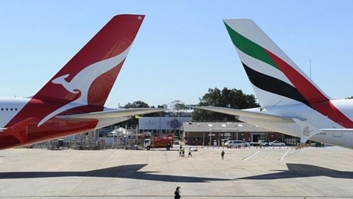 Australia's competition watchdog gave final agreement for Qantas and Emirates to launch a global alliance, which allows the airlines to combine operations for five years. (AFP)