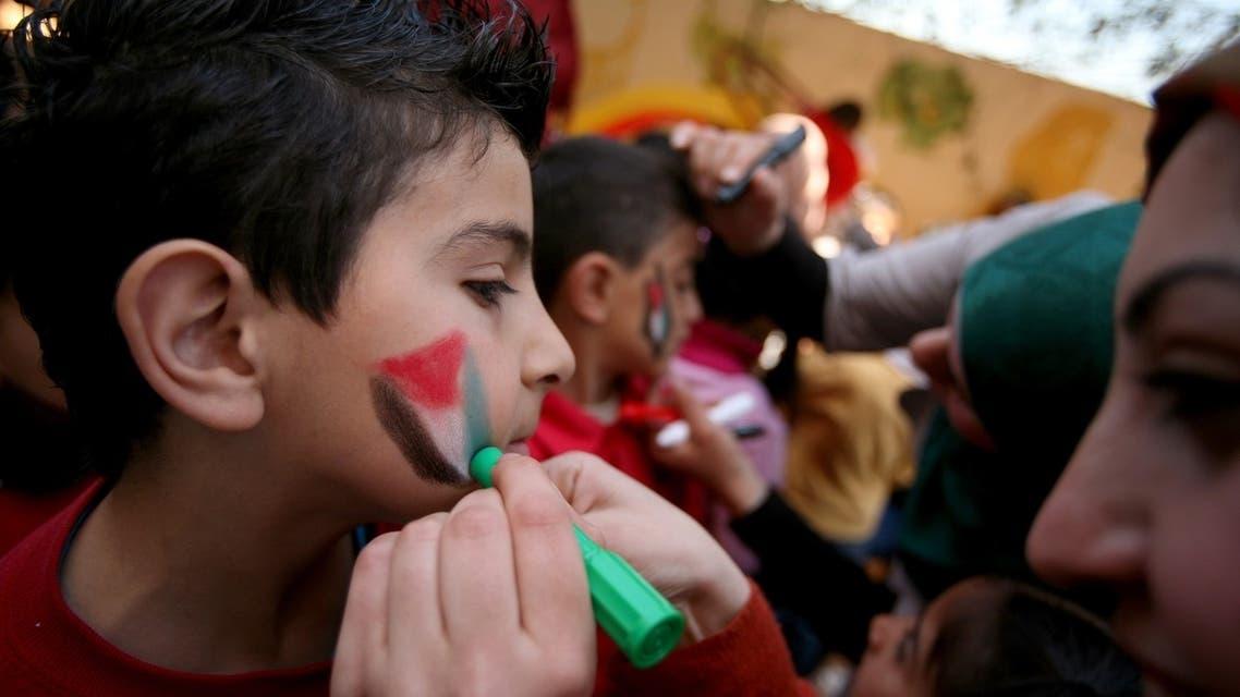 Palestinian children mark Land Day