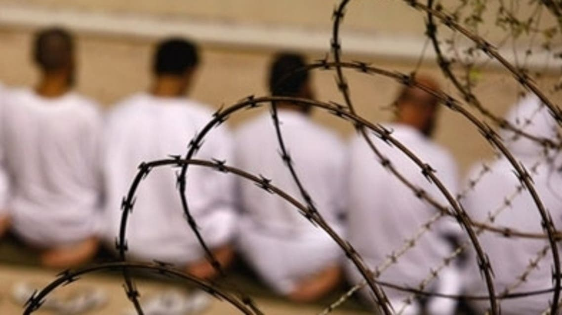 Prisoners of Guantánamo Bay detention center at prayer. (AFP)