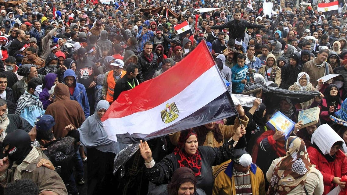 Egyptian women join a mass protest in Cairo's Tahrir Square. The United States on Friday expressed concern about a rise in sexual violence and gang rapes in Egypt. (Reuters)