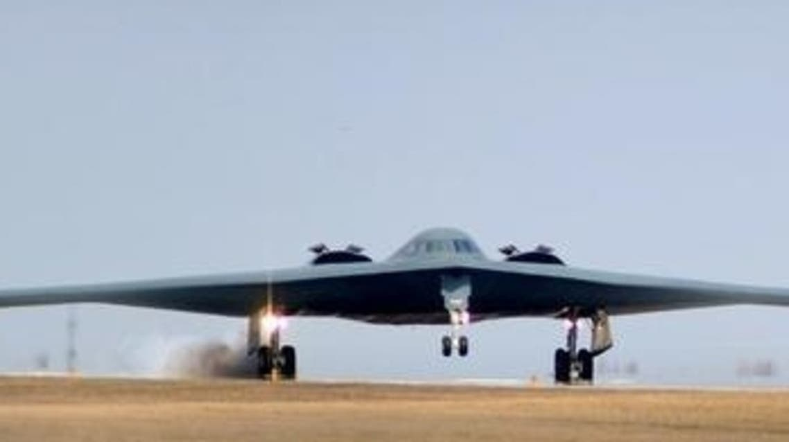 One of three Air Force Global Strike Command B-2 Spirit bombers returns to home base at Whiteman Air Force Base in Missouri after striking targets in support of the international response which is enforcing a no-fly zone over Libya. (Reuters)