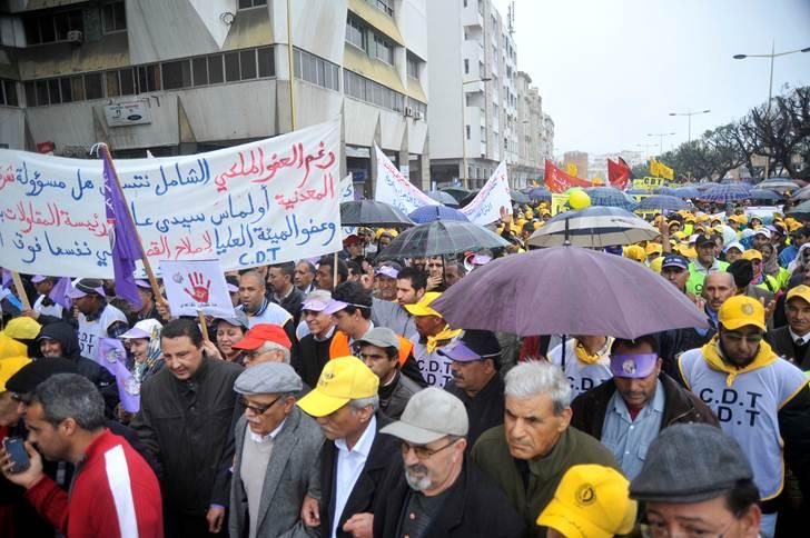 مسيرة في الرباط ضد الحكومة المغربية 3