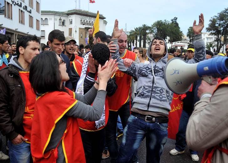 مسيرة في الرباط ضد الحكومة المغربية 6
