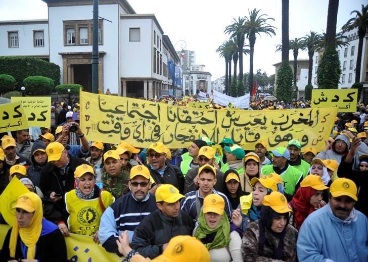 مسيرة في الرباط ضد الحكومة المغربية 5
