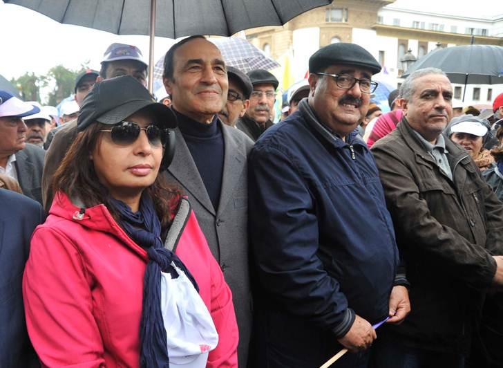 مسيرة في الرباط ضد الحكومة المغربية 1