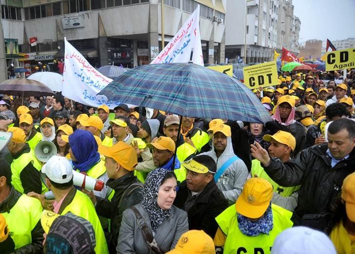 مسيرة في الرباط ضد الحكومة المغربية 2
