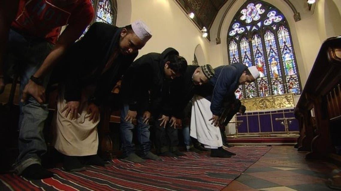 Muslims in church