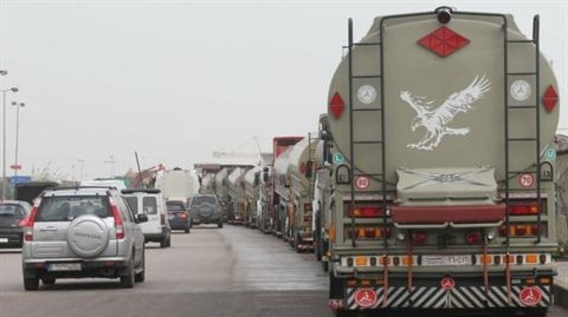 Gunmen ambushed a fleet of trucks travelling through north Lebanon towards the Syrian border on Wednesday, wounding a driver. (Photo Courtesy: The Daily Star)