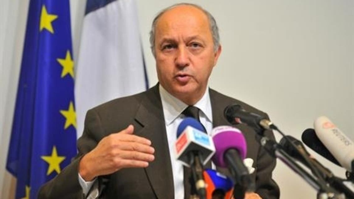 French Minister of Foreign Affairs, Laurent Fabius debate over whether to lift the embargo in order to supply arms, including ground-to-air missiles and other heavy weaponry, to insurgents. (AFP)