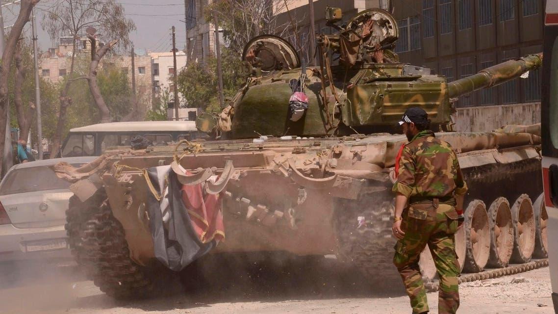 توجه رتل عسكري من مطار المزة العسكري باتجاه داريا