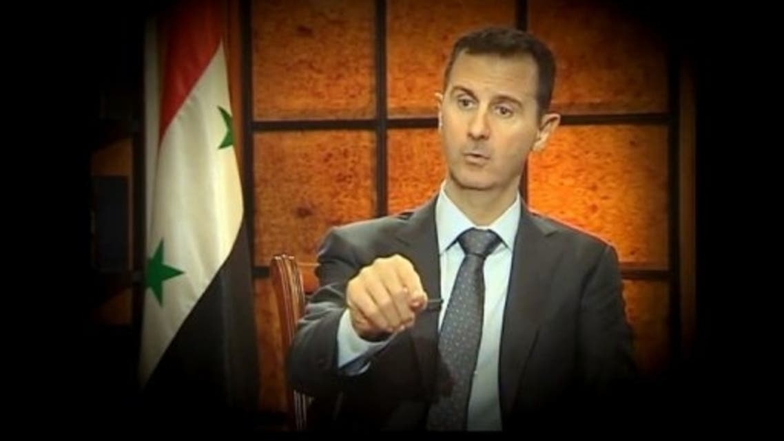 Syrian President Bashar al-Assad during an interview with Turkish journalists in Damascus. Syrian President Bashar al-Assad has lashed out at the Arab League and its decision to hand Syria's seat to the opposition. (AFP)