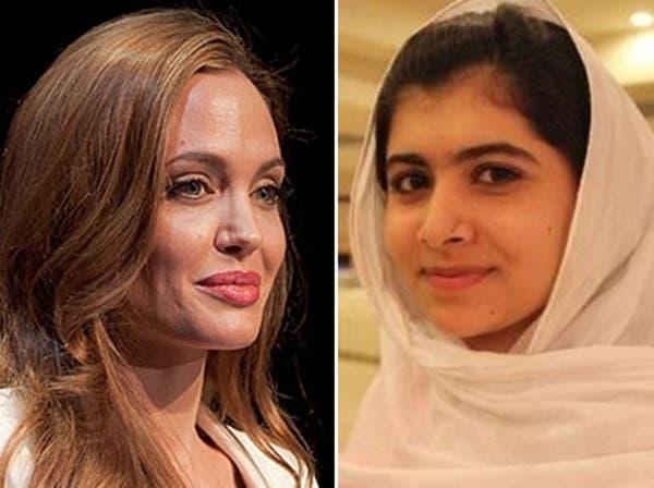"""أنجلينا جولي تدعم صندوق """"ملالا"""" بـ 200 ألف دولار"""