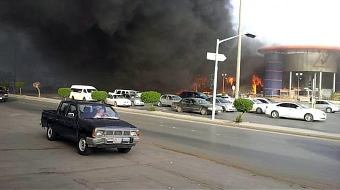 حريق مجمع الهرم