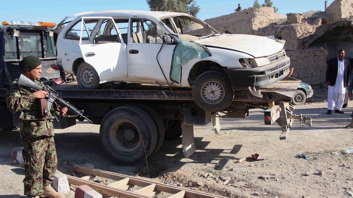 Afghanistan BOMB blast car wreck reuters (clear)