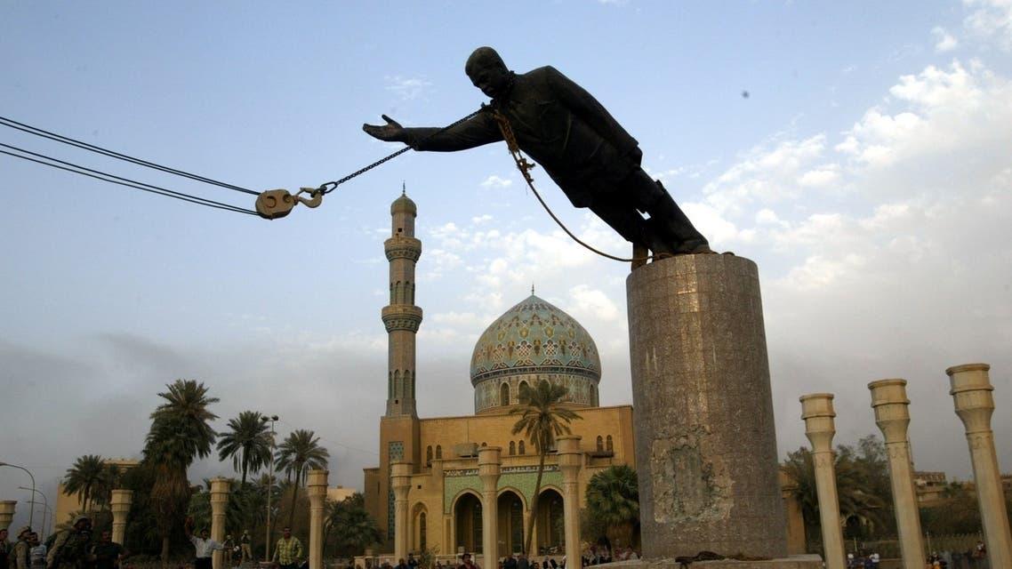 The fall of Saddam Hussein