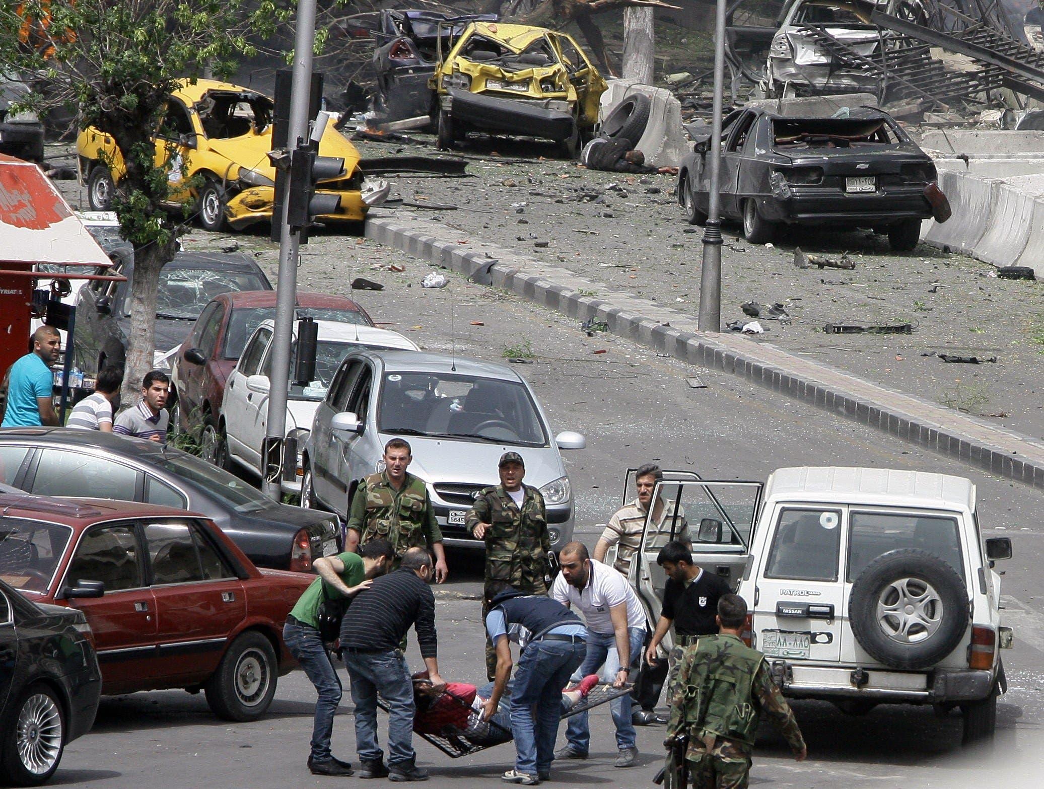 مشهد آخر من التفجير في السبع بحرات