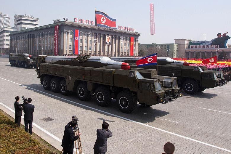 جانب من استعراض عسكري لجيش كوريا الشمالية