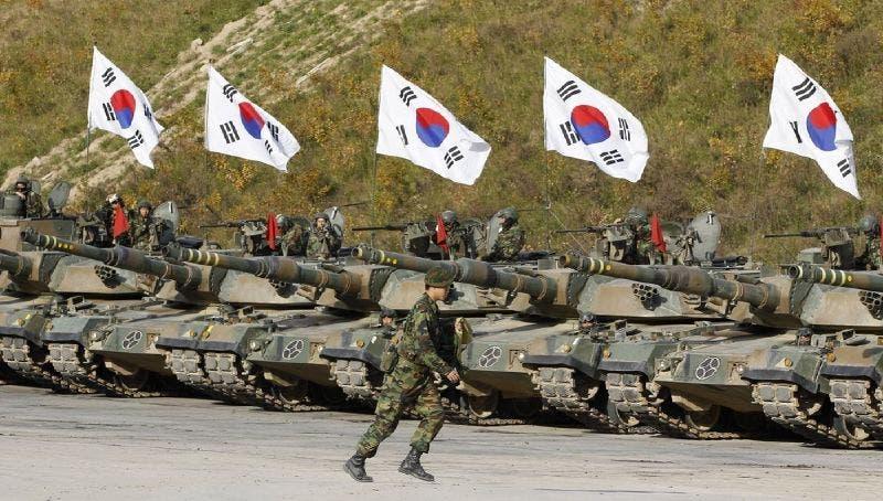 جانب من استعراض عسكري لجيش كوريا الجنوبية