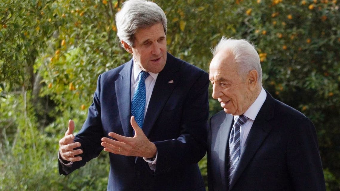Kerry Peres Israel Mideast peace process