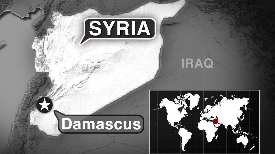 Syria Damascus AP MAP