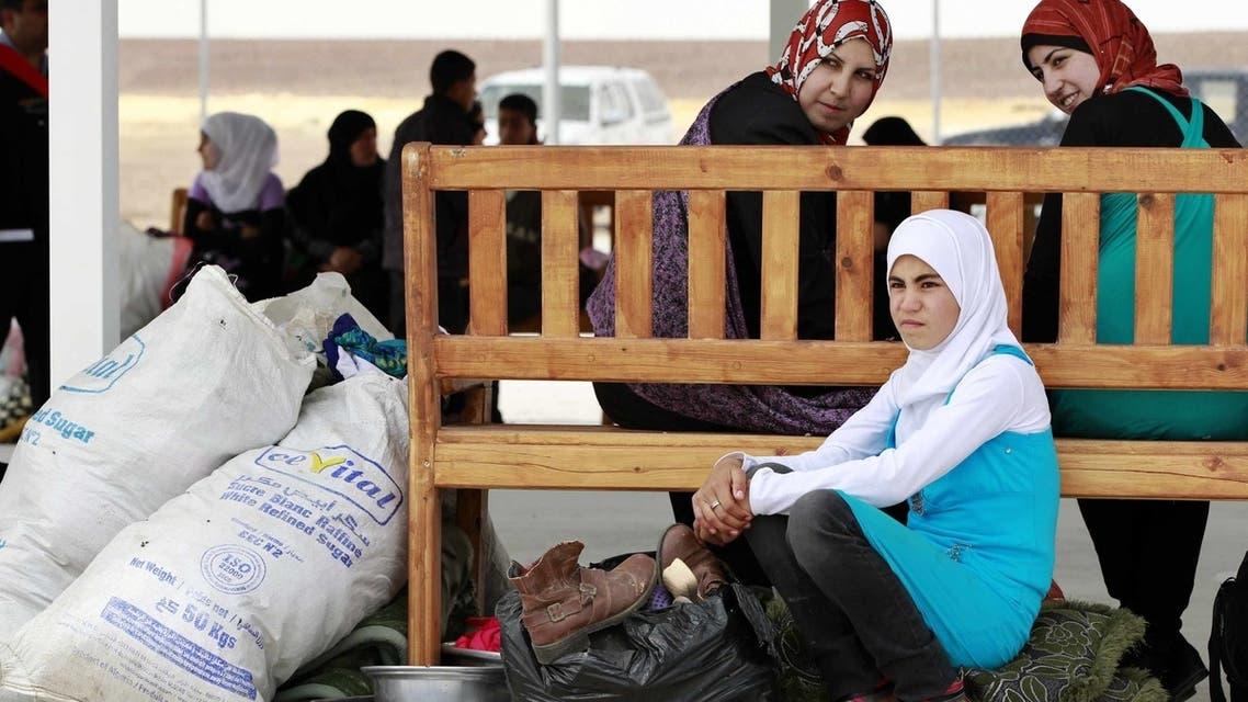 Syrian refugees at UAE-funded camp in Jordan (April 10, 2013)