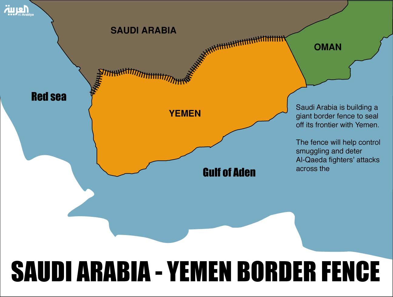 Saudi Arabia Continues Strengthening Border Security With Yemen - Map of us border fence