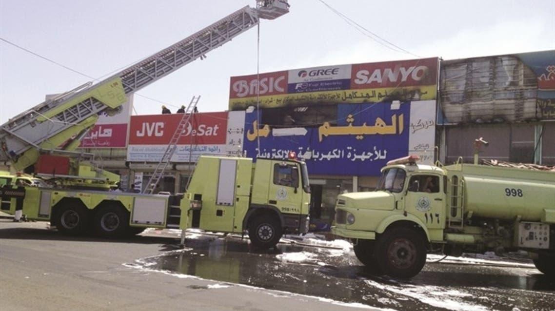 حريق في جدة