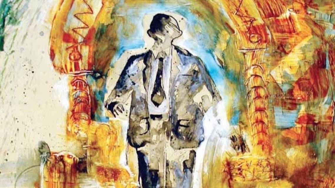 إحدى لوحات الفنان التشكيلي ناجي الحاي