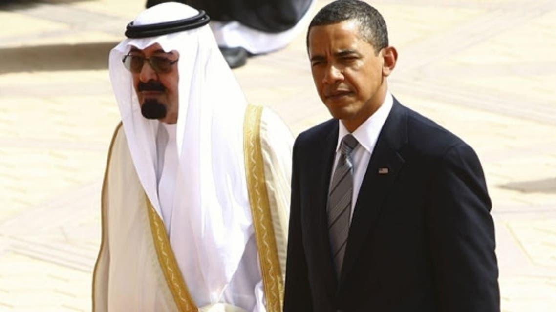 Saudi King Abdullah and Obama (AFP)
