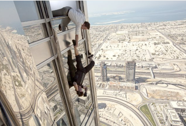 Smythe was integral in brining Mission: Impossible - Ghost Protocol (2011) to shoot in Dubai. Tom Cruise performed a stunt at the Burj Khalifa, the world's tallest building, for a scene in the film. (Image courtesy  Paramount Pictures via IMDB)