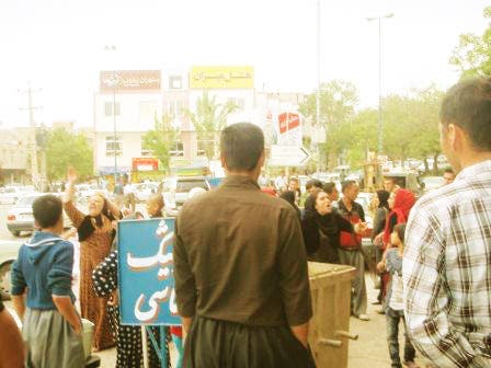 part of the demonstrations organised by Feminist Kurdish Union in Iran