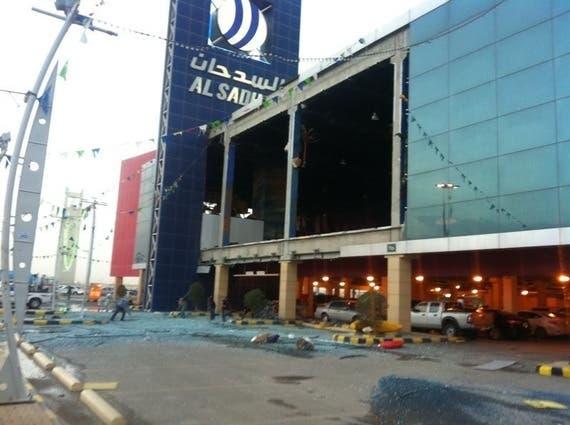 تكسر الواجهات بسبب البرد في الرياض