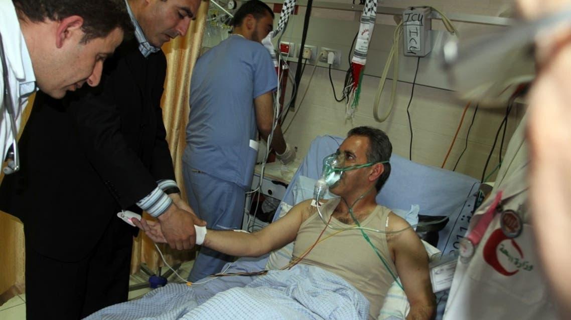 الأسير محمد التاج في المشفى
