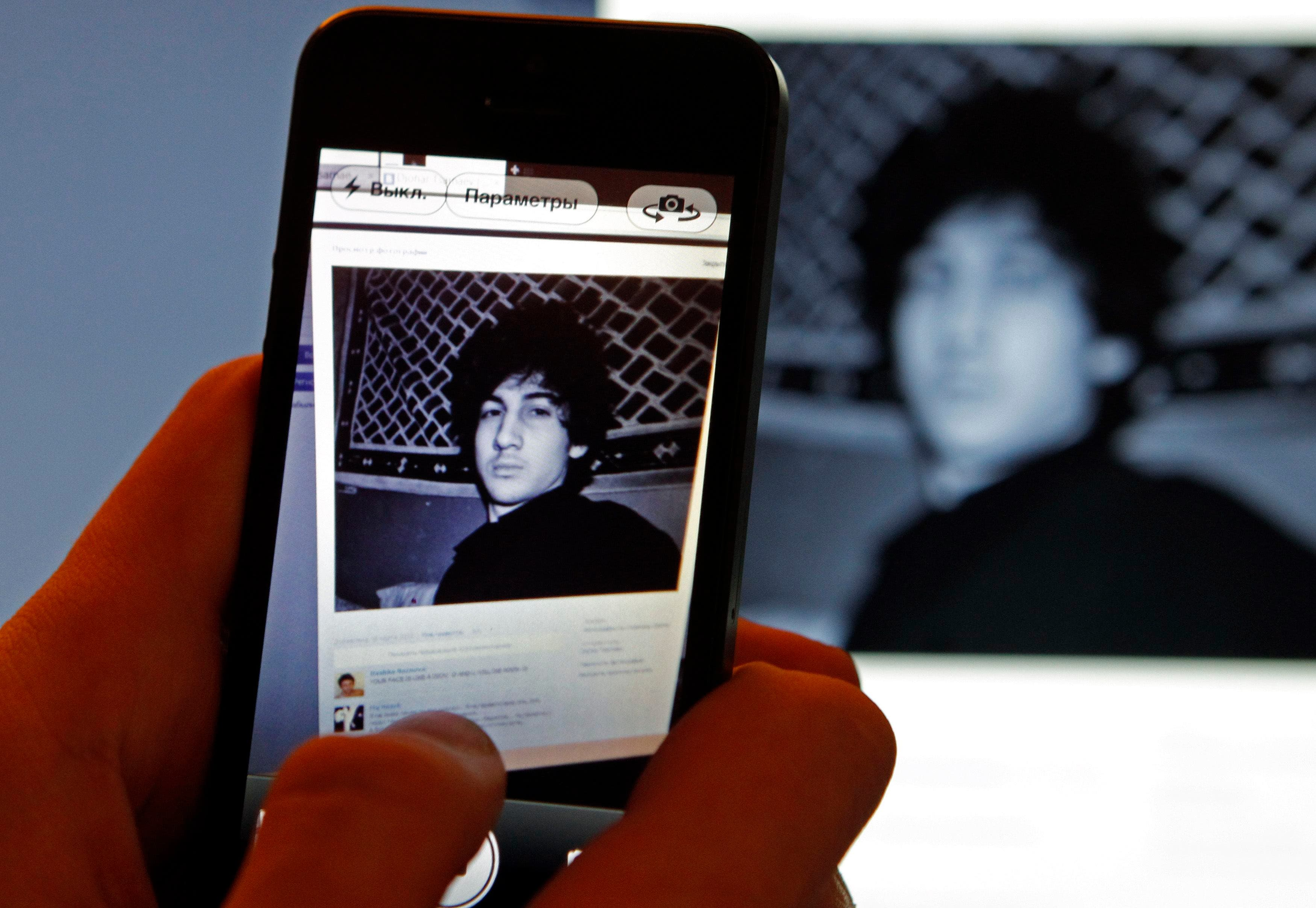 A photograph of Djohar Tsarnaev, who is believed to be Dzhokhar Tsarnaev, a suspect in the Boston Marathon bombing (Reuters)