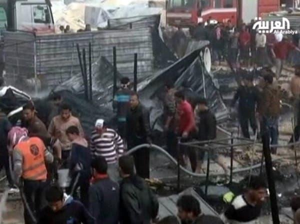 10 مصابين من الدرك بأعمال عنف في مخيم الزعتري بالأردن