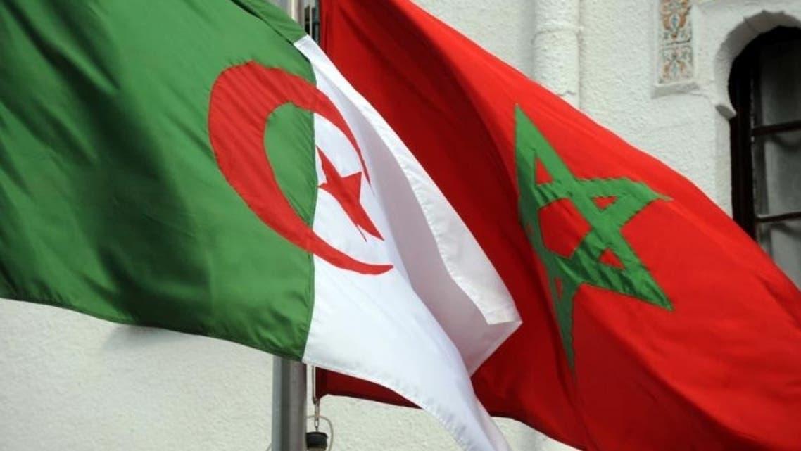 Algeria Morocco Flags AFP