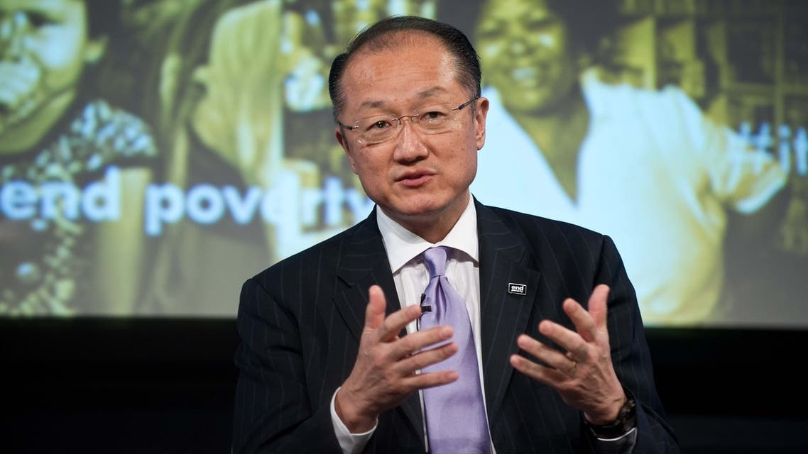 World Bank president Jim Yong Kim, in a discussion on how to end poverty, during the 2013 World Bank/IMF Spring meetings in Washington. (AFP)