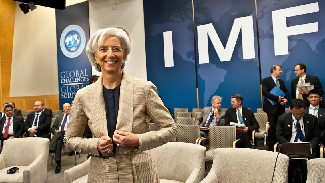 Head of the International Monetary Fund  Christine Lagarde at the International Monetary and Financial Committee meeting during the 2013 World Bank/IMF Spring meetings in Washington (AFP)
