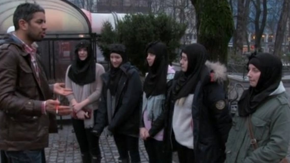 The five teenage girls were asked to wear the hijab and chant Arabic phrases. (Courtesy: Vimeo)