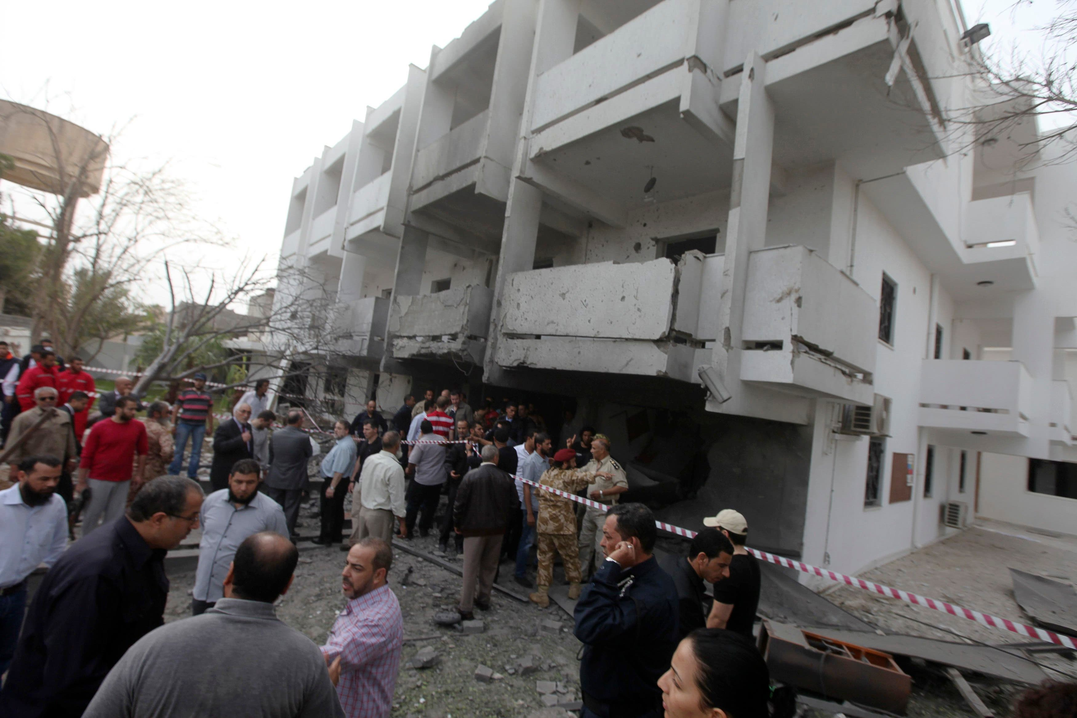 Attack on the French embassy in Tripoli, Libya (Reuters)