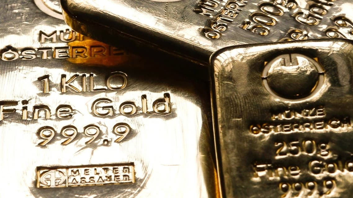 Gold bars at the Austrian Mint in Vienna. The gold price today climbed to its highest in more than a week. (Reuters)