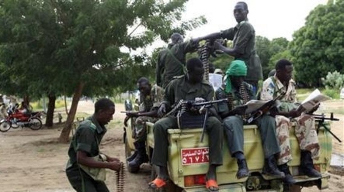 Soldiers from Sudan's army rest in a file photo at the Blue Nile state capital al-Damazin.