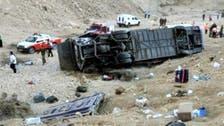 مقتل 5 وإصابة 38 بانقلاب حافلة في بني سويف