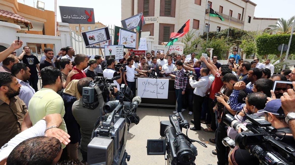 العنف في ليبيا أمام مقر وزارة الخارجية