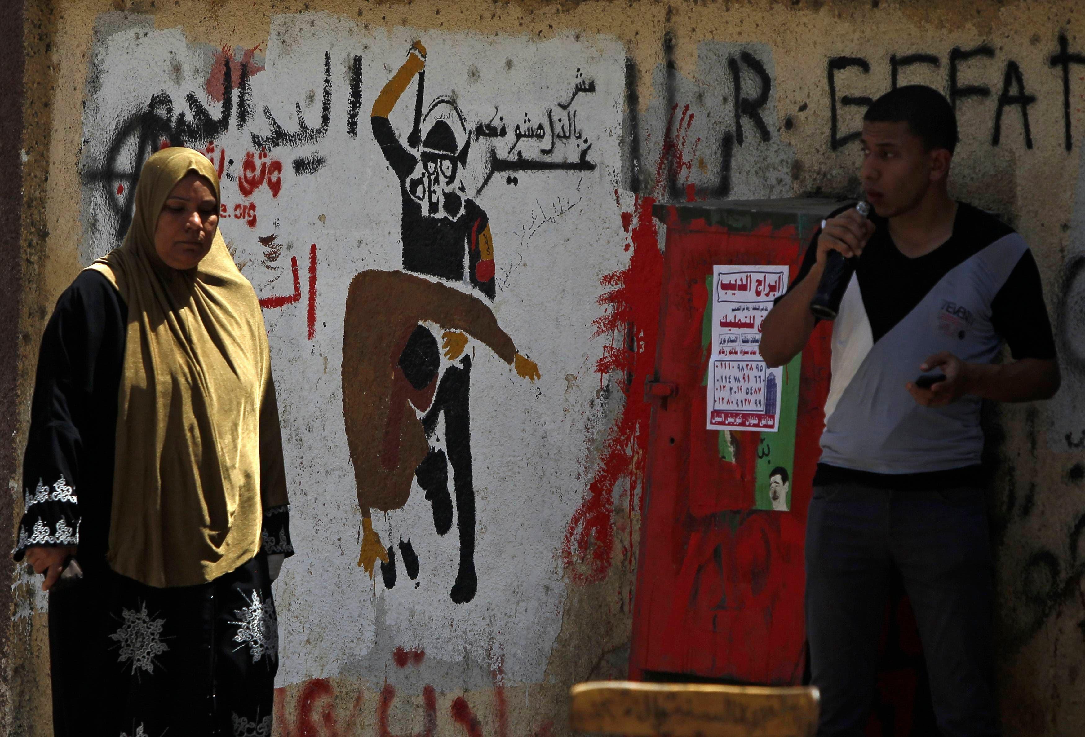 Graffiti in Egypt breaks silence of opposition