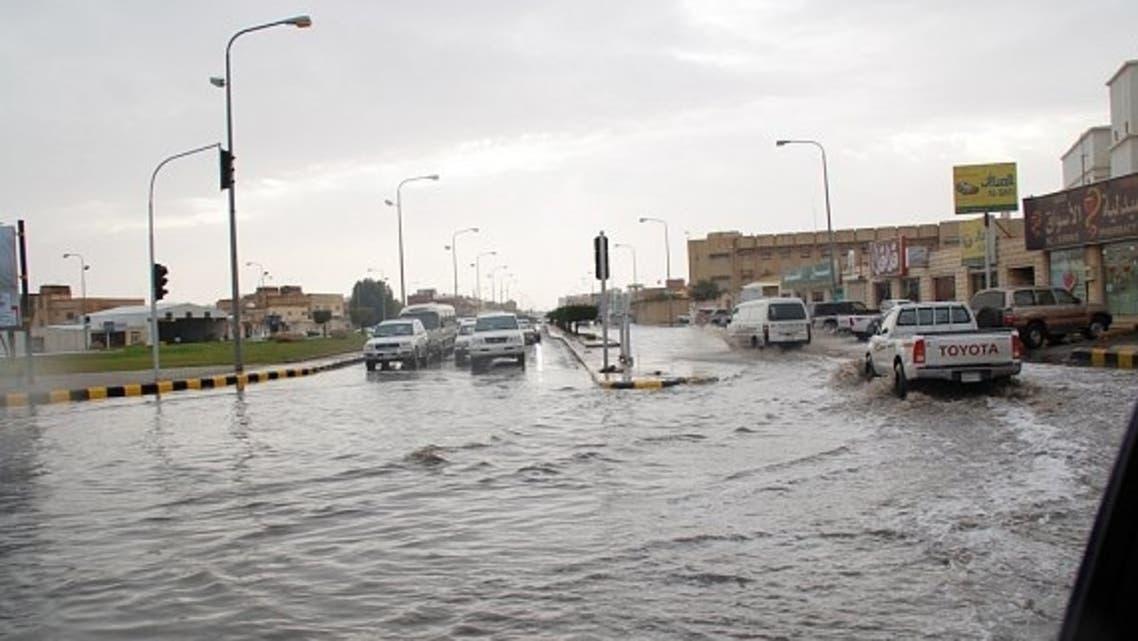 أمطار في محافظة الرس