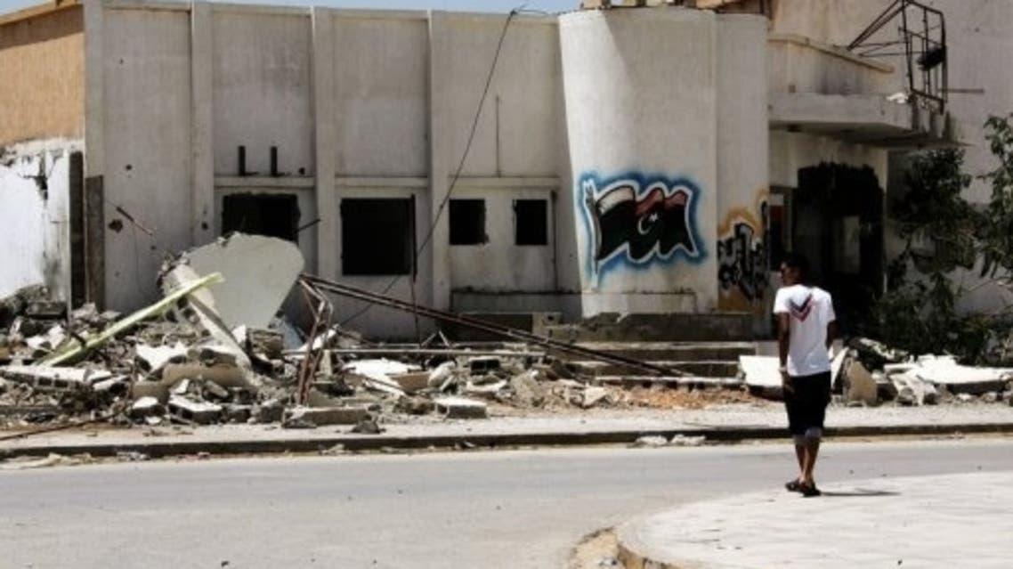 مركز شرطة في بنغازي