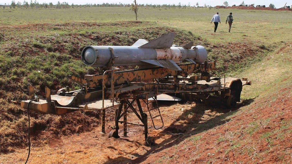 A rocket launcher is pictured at al-Sahwa military base of the Syrian Army after it was captured by Free Syrian Army fighters, in Deraa in this March 9, 2013 file photo. (Reuters)