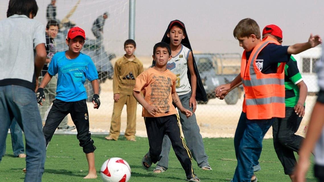 Arsenal FC at Syrian refugee camp
