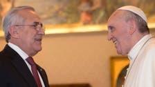 Pope Francis meets Lebanese President Michel Suleiman